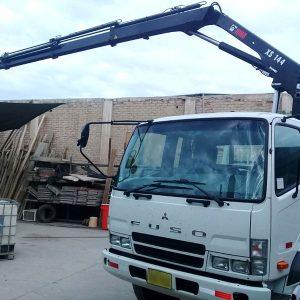 CAMIÓN MITSUBISHI FUSO FK 8 Ton. + GRÚA HIAB XS 144 B-3 DUO - 4.3 Ton. a 3.10 m